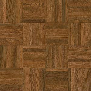 Bruce Natural Oak Parquet Gunstock 5/16 in. Thick x 12 in. Wide x 12 in. Length Hardwood Flooring (25 sq. ft. / case)-112120 203400062