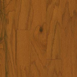 Bruce Plano Oak Gunstock 3/8 in. Thick x 5 in. Wide x Varying Length Engineered Hardwood Flooring (30 sq. ft. / case)-EPL5111 206213585