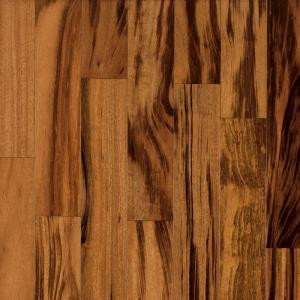 Bruce World Exotics Tigerwood Natural 3/8 in. Tx 4-3/4 in. Wx Random Length Engineered Hardwood Flooring (32.55 sq. ft./case)-EGE4200Z 202746627