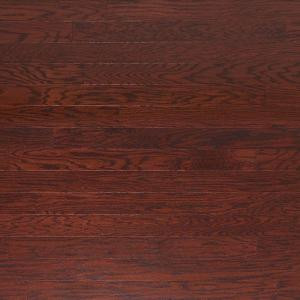 Heritage Mill Scraped Oak Cabernet 3/8 in. Thick x 4-3/4 in. Wide x Random Length Engineered Click Hardwood Flooring (33 sq. ft./case)-PF9775 206060598