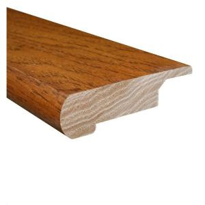 Hickory Honey 0.81 Thick x 3 in. Wide x 78 in. Length Hardwood Lipover Stair Nose Molding-LM5930 202034752