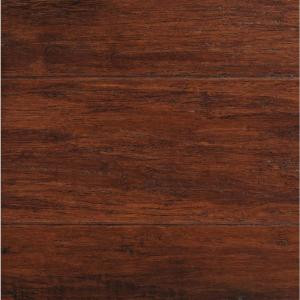 Home Decorators Collection Handscraped Strand Woven Brown 1/2 in. Thick x 5-1/8 in. W. x 72-7/8 in. L. Solid Bamboo Flooring (25.88 sq. ft. /case)-YY10011 205859858