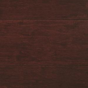 Home Decorators Collection Strand Woven Cherry 3/8 in. Thick x 5-1/8 in. Wide x 72 in. Length Click Lock Bamboo Flooring (25.75 sq. ft. / case)-HD13009A 205112438