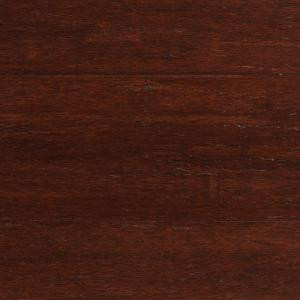 Home Decorators Collection Strand Woven Dark Mahogany 3/8 in. x 5-1/8 in. Wide x 36 in. Length Click Engineered Bamboo Flooring (25.625 sq.ft/case)-AM1311E 205170911