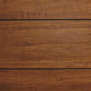 Home Decorators Collection Strand Woven Distressed Dark Honey 1/2 in. x Multi Width x 72 in. Length Click Lock Bamboo Flooring (21.86 sq. ft./case)-HD13004A 205112454