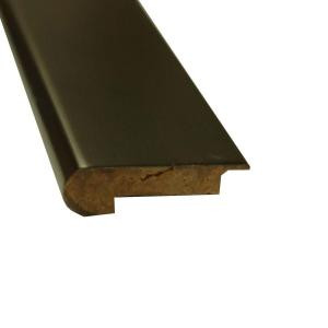 Islander Stained Ebony 1 in. Thick x 3-5/8 in. Wide x 72-3/4 in. Length Strand Bamboo Overlap Stair Nose Molding-6671-33EBO 205407533