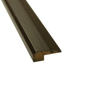 Islander Stained Ebony 3/4 in. Thick x 2 in. Wide x 72-3/4 in. Length Strand Bamboo Threshold Molding-6671-1EBO 205406573