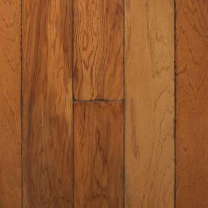 Millstead Artisan Hickory Sepia 3/8 in. x 4-3/4 in. Wide x Random Length Engineered Click Hardwood Flooring (22.5 sq. ft. / case)-PF9602 202630224