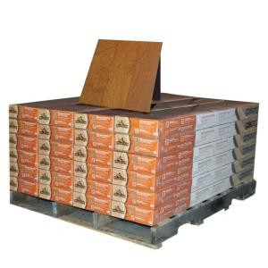 Millstead Cherry Mocha 3/8 in. Thick x 4-1/4 in. Wide x Random Length Engineered Click Wood Flooring (480 sq. ft. / pallet)-PF9391-24P 203675638