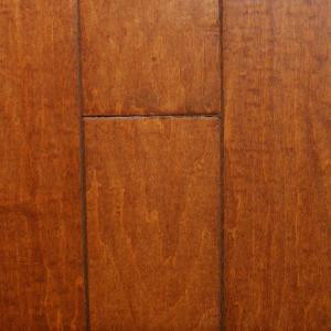 Millstead Hand Scraped Maple Nutmeg 3/8 in. Thick x 4-3/4 in. x Random Length Engineered Click Hardwood Flooring(33 sq. ft. /case)-PF9581 202630244
