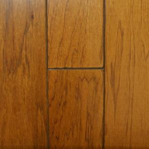 Millstead Hickory Rustic Golden 1/2 in. Thick x 5 in. Wide x Random Length Engineered Hardwood Flooring (31 sq. ft. / case)-PF9607 202630250