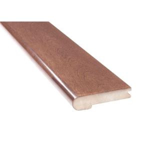 MONO SERRA Mistral Cappuccino Birch 3/4 in. Thick x 4 in. Wide x 78 in. Length Solid Hardwood Flush Mount Stair Nose Molding-FIM-102 205170292