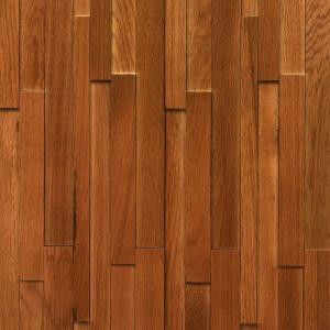 Nuvelle Take Home Sample - Deco Strips Saddle Engineered Hardwood Wall Strips - 5 in. x 7 in.-SC-194840 300234480