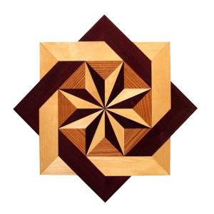 PID Floors 3/4 in. Thick x 36 in. Wide Star Medallion Unfinished Decorative Wood Floor Inlay MS002-MS0021 203424577
