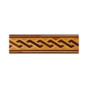 PID Floors Helix Design 3/4 in. Thick x 6 in. Wide x 48 in. Length Hardwood Flooring Unfinished Decorative Border-MB002 203672338