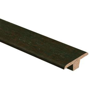 Zamma Hand Scraped Strand Woven Bamboo Warm Espresso 3/8 in. Thick x 1-3/4 in. Wide x 94 in. Length Hardwood T-Molding-014002022588 205415475