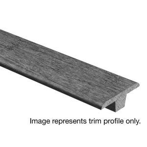 Zamma Scraped Ember Hickory 3/8 in. Thick x 1-3/4 in. Wide x 94 in. Length Hardwood T-Molding-014006022809 206740073