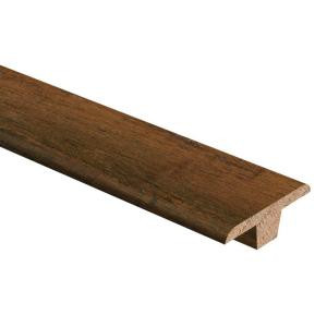 Zamma Strand Woven Bamboo Brown 3/8 in. Thick x 1-3/4 in. Wide x 94 in. Length Hardwood T-Molding-014002022586 205415459