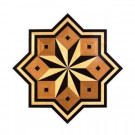 PID Floors Star Medallion Unfinished Decorative Wood Floor Inlay MS003 - 5 in. x 3 in. Take Home Sample-MS003S 203825025