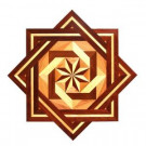 PID Floors Star Medallion Unfinished Decorative Wood Floor Inlay MS004 - 5 in. x 3 in. Take Home Sample-MS004S 203825026